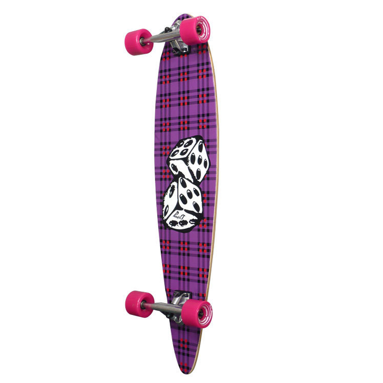 Pintail Longboard with Dice